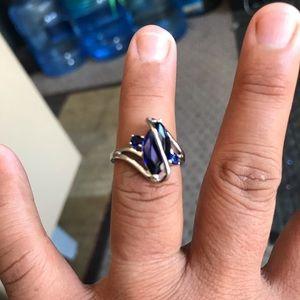 Sapphire gemstone , 925 sterling silver